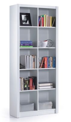 Ciara 5 Tier Bookcase Room Divider Display 10 Cube Shelf Unit White Gloss