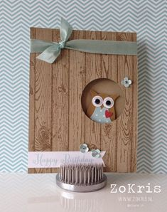 Stampin' Up! - Owl Punch, Hardwood, Remembering Your Birthday - ZoKris