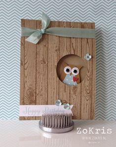 Stampin' Up! - Owl Punch, Hardwood, Remembering Your Birthday - ZoKris