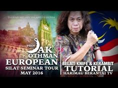 Prof Jak Belati Knife (icepick grip) & Flipping the Kerambit. Silat Harimau Berantai! - YouTube