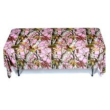 Pink Camouflage Party Printed Plastic Tablecover (1 ct)