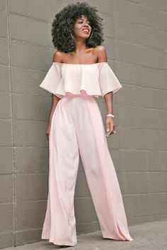 Style Pantry | Off Shoulder Blouse + High Waist Trousers