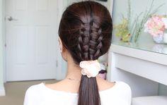 Braids, fishtail braids, updos, half up, ponytails, curls, dutch braid, french braids, and lace braids.