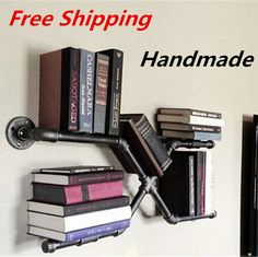 Cheap bookcase, Buy Directly from China Suppliers:        Iron Pipes Bookshelf American Country to do the Old…