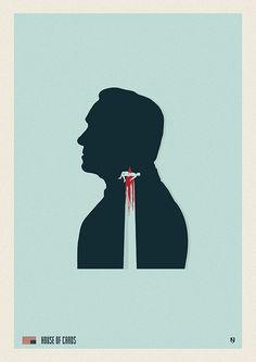 House of Cards (2013–) ~ Minimal TV Series Poster by Matt Needle #amusementphile
