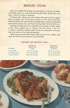 Vintage Recipes: Meat Recipes Part 1 Retro Recipes, Old Recipes, Cookbook Recipes, Vintage Recipes, Meat Recipes, Dinner Recipes, Cooking Recipes, 1950s Recipes, Family Recipes