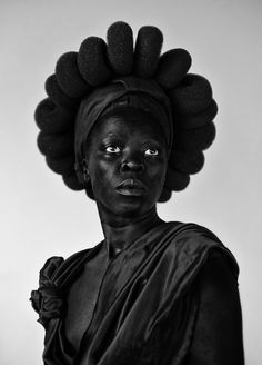 """Ntozakhe II, Parktown, 2016 © Zanele Muholi. Courtesy of Stevenson, Cape Town/Johannesburg and Yancey Richardson, New York  """"I'm reclaiming my blackness, which I feel is continuously performed by the privileged other,"""" says the South African photographer, introducing her new series of self-portraits."""