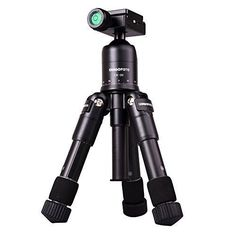 AFAITH Portable Folding Ultra Aluminum alloy Tripod Compact Desktop Macro Mini Tripod Kit with CK30 Ball Head for Canon Nikon DSLR Camera Black * You can find more details by visiting the image link.