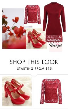 """""""red gal"""" by obsessedwithnicestuff ❤ liked on Polyvore featuring GUINEVERE"""