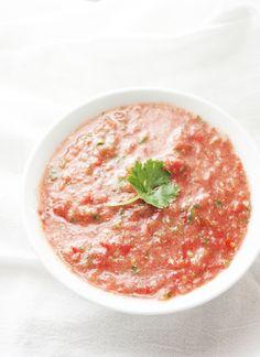 fresh, blender-made salsa.