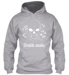 Double Snake Sport Grey Sweatshirt Front