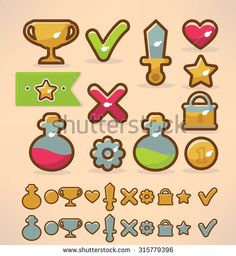 Find Game Design Elements Icons Object stock images in HD and millions of other royalty-free stock photos, illustrations and vectors in the Shutterstock collection. Vector Game, Game Ui Design, Mobile Game, Design Elements, Royalty Free Stock Photos, Objects, Icons, Games, Illustration