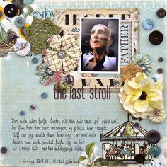August 2014 Button Challenge The Studio Challenges  By Hilde Aaslund