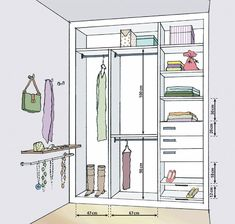 43 Ideas Walk In Closet Makeover Wardrobes Wardrobe Design Bedroom, Wardrobe Closet, Closet Bedroom, Custom Closet Design, Closet Designs, Closets Pequenos, Wardrobe Dimensions, Clothes Cabinet, Armoire