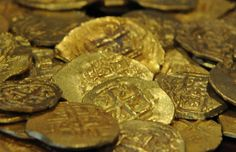 July 2013 find by Capt. Greg Bounds aboard Capitana. 48 gold coins from the 1715 Fleet.