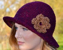 Crochet Pattern Downton Abbey Cloche Hat Easy Crochet Hat Pattern Instant download PDF Digital Pattern