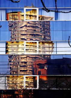 Reflection on a building #interesting #blue
