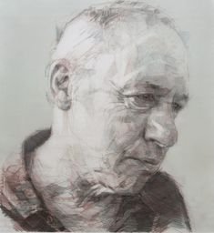 Colin Davidson Artist Mark Knopfler (Drawing) graphite, crayon and pastel on paper 122 x 112 cm