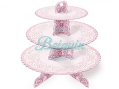 Torre para cupcakes rosa