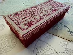 Toile de lin et petites croix: Envie de cartonner