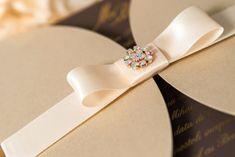 Invitatie nunta eleganta cu papion si cristal Crystal