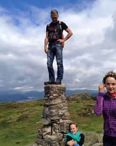 My lovely brother Cormac and two of his girls in the Lake District.