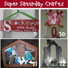 12 DIY Craft Projects {Super Saturday Ideas} http://christmas.tipjunkie.com/12-diy-craft-projects-super-saturday-ideas/