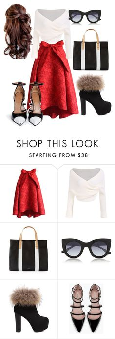 """""""Untitled #12"""" by segura-priscilla ❤ liked on Polyvore featuring Chicwish, Isaac Mizrahi, Thierry Lasry, Zara, Givenchy, women's clothing, women's fashion, women, female and woman"""