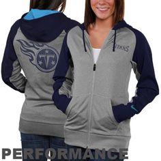 Nike Tennessee Titans Ladies Die-Hard Full Zip Performance Hoodie