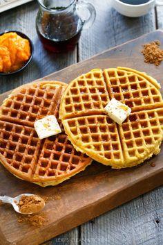 Healthy Pumpkin Waffle Recipe Nesting With Grace. The Best Grain Free Vegan Pumpkin Pie Gluten Free Paleo. Gluten Free Pumpkin, Healthy Pumpkin, Pumpkin Recipes, Fall Recipes, Pumpkin Waffles, Pancakes And Waffles, Paleo Waffles, Fodmap, Paleo Breakfast