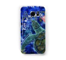 Samsung Galaxy Case/Skin with Clean Ocean Sea Turtle art by Nola Lee Kelsey