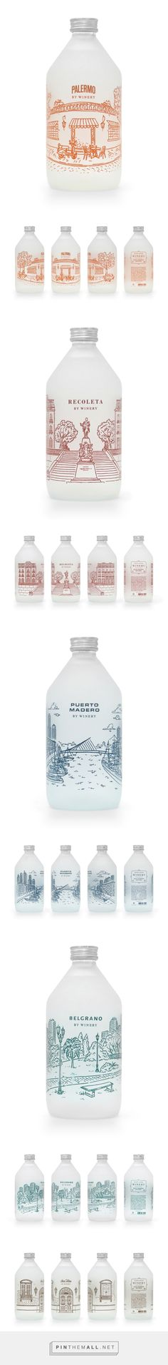 Winery Gota Water on Behance by Juan Martín Krause, Buenos Aires, Argentina curated by Packaging Diva PD. Great illustrations on these unusual wine bottles. Graphic design, packaging, product design, illustration.