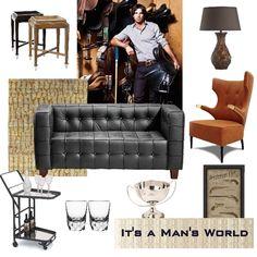 It's a Man's World, #masculine decor #decor #men