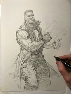 ArtStation - Private coloured sketch commission: the Punischer, Riccardo Federici Character Concept, Character Art, Concept Art, Character Design, Comic Book Artists, Comic Artist, Comic Books Art, Riccardo Federici, Monster Sketch