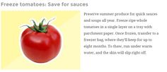 Freeze Tomatoes