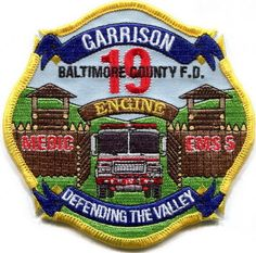Maryland - Baltimore County Fire Dept. Garrison station 19 current style patch