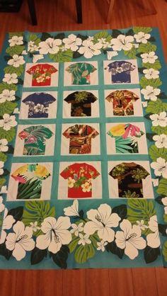 Aloha shirt quilt top