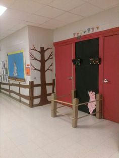 I am ready for spring... Decorating my classroom door with barn n pig pen..from Charlottes Web... Kids will add flowers and other spring things...still have to make the web but Charlotte is already hanging...I have to add pig trough with corn and Templeton of course