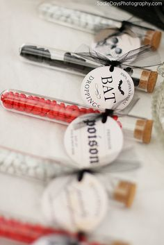 test tubes and awesome labels!