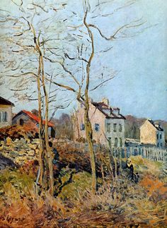 Sisley Alfred Village at the edge of the forest Sun « alfred sisley - search results « Art might - just art Impressionist Landscape, Impressionist Artists, Post Impressionism, Watercolor Landscape, Landscape Paintings, Renoir, Sisley Alfred, European Paintings, Camille Pissarro
