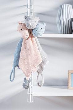 JOLLEIN Muchláček pletený hroch Blue   Kašpárek Baby