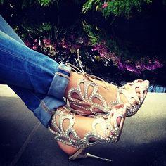 heels + denim