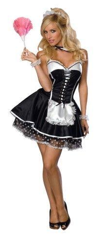 Sexy Maid Adult Medium, Black