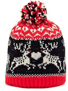 Novelty Christmas Bobble Hat (Older Girls)