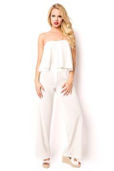 Crop top et pantalon ete blanc style mode S-XL Cropped Tops, Fashion Mode, Trends, Jumpsuit, Luxury, Ebay, Man Women, Clothing Accessories, Lingerie