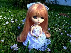 My bestie gave me a wig and a dress and hair bow that she had made herself, and I thought that they would all look beautiful on my Kirsche! ^_^