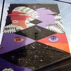 Obra de @mur0ne en la Calle Jesús 27, en el Barrio de Jesús, para el @festivalasalto