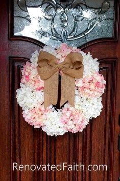 Hydrangea Door Wreat