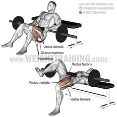Use the barbell one-leg hip thrust for unilateral glute and quad activation. Avoid going very heavy because it can place too much torque on your vertebrae.