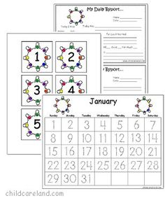 January Number Tracing Calendar and Numbers - Pinned by @PediaStaff – Please visit http://ht.ly/63sNt for all (hundreds of) our pediatric therapy pins